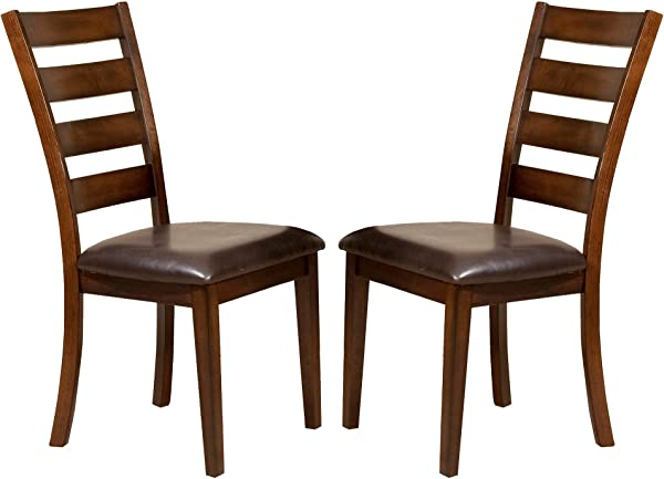 Kailua Ladder Back Side Chair Wood Dark Rasin Set Of 2 Imagio Home