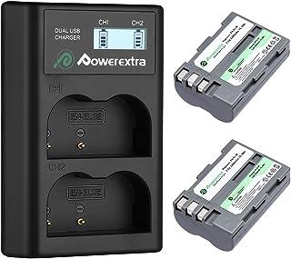 Powerextra Batería Nikon EN-EL3E 2200mAh con Cargador Inteligente Pantalla LCD Nikon EN-EL3 D30 D50 D70 D70S D80 D90 D100 D200 D300 D300S D700