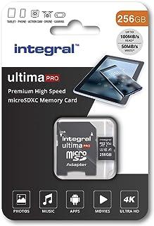 Integral 256 GB Micro SD Karte 4K Video Premium High Speed Speicherkarte SDXC bis zu 100 MB s Lesegeschwindigkeit und 50 MB s Schreibgeschwindigkeit V30 C10 U3 UHS I A1