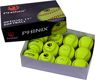 PHINIX Practice Softballs Official Size and Weight Professional Quality,Practice, Competitions, Gifts. (PXS1110)