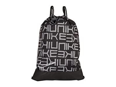 Nike Hoops Elite All Over Print Gym Sack (Black/Black/White) Backpack Bags