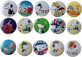 15 Bigger Vivider 1 .75 inch Snoopy Badge / Button / Pin / Pinback/ Button Set, Party favors Gfits