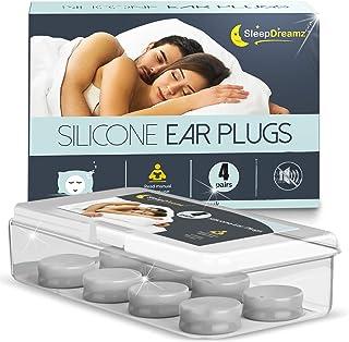 Tapones oidos dormir silicona SleepDreamz® – 4 pares de tapones oidos que bloquean los ruidos – Protección contra los ronquidos y otros ruidos molestos gracias a estos tapones oidos ruido
