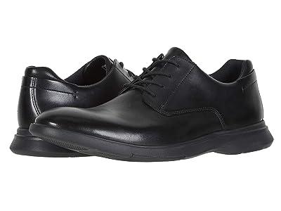 Clarks Un Lipari Park (Black Leather) Men