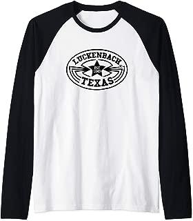 Luckenbach Shirt Vintage Texas Country Music Gift Raglan Baseball Tee