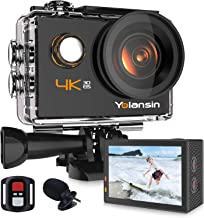Yolansin 4K Action Camera 20MP 40M Waterproof EIS Sports Camera with 170° Wide Angle Ultra HD DV Camcorder with 2.4G Remot...