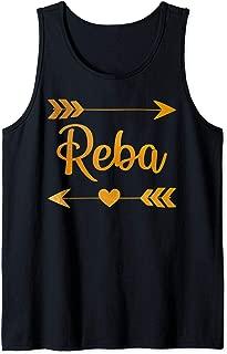 REBA Personalized Name Funny Birthday Custom Mom Gift Idea Tank Top