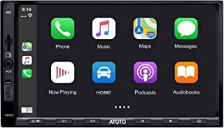 ATOTO in-Dash Double Din Digital Media Car Stereo - SA102 YS102SL CarPlay & Android Auto Receiver w/ Bluetooth, Phone Mirroring (Auto Link) AM/FM Radio Tuner,USB Video & Audio