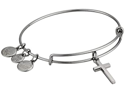 Alex and Ani Cross II Bangle (Midnight Silver) Bracelet