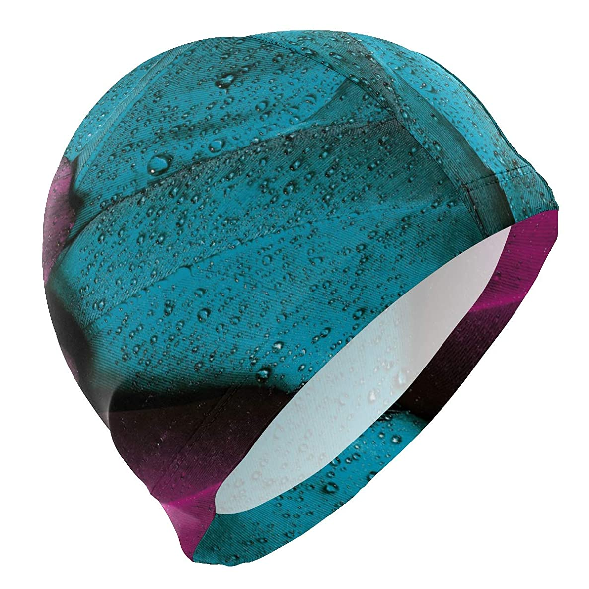 PNGLLD Swim Cap Colorful Feathers Mens Swimming Cap Boy Adult Youth Teen Swimming Hat No-Slip