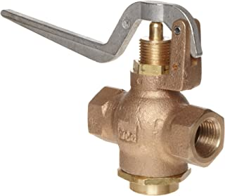 Kingston 305A Series Brass Quick Opening Flow Control Valve, Squeeze Lever, 1/2