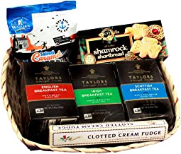 3 Nations Gift Basket, English, Irish, & Scottish Tea Gift Basket - Ships the Same Business Day, Order by 1:00 PM Pacific Time
