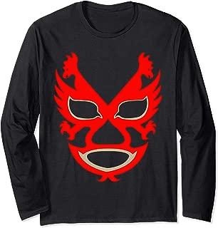 Feel-Ink Dos Caras Lucha Libre Mexican Wrestler Legend Long Sleeve T-Shirt