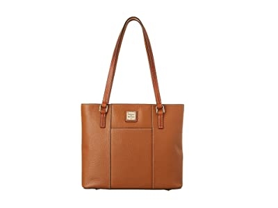 Dooney & Bourke Small Lexington Shopper (Caramel w/ Tan Trim) Tote Handbags
