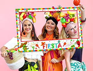 Cinco de Mayo Fiesta Mexican Photo Booth Props Frame Decorations Party Supplies Favors