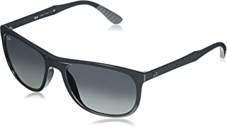 Ray-Ban Men's Injected Man Sunglass Square, Grey, 58 mm