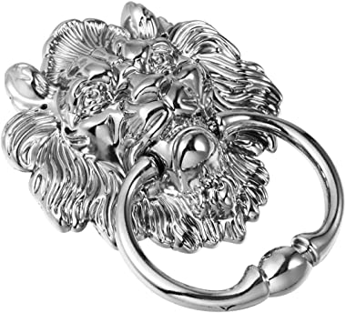 Hemoton Antique Lion Head Door Knockers Vintage Front Door Handle Knobs Knocker Pull Ring for Door Drawer Dresser Cupboard