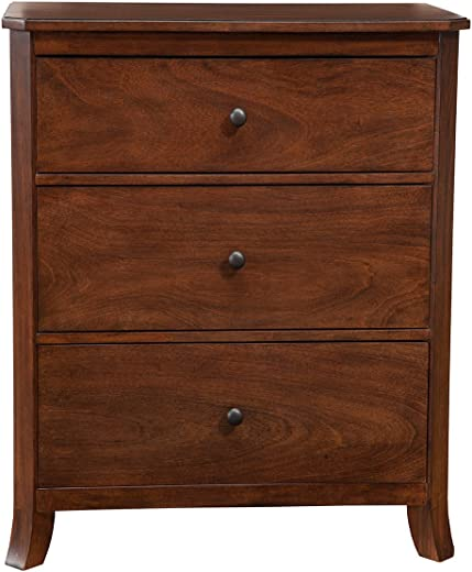 B01M9G0ZXK✅Alpine Furniture 3-Drawer Small Chest in Mahogany Finish