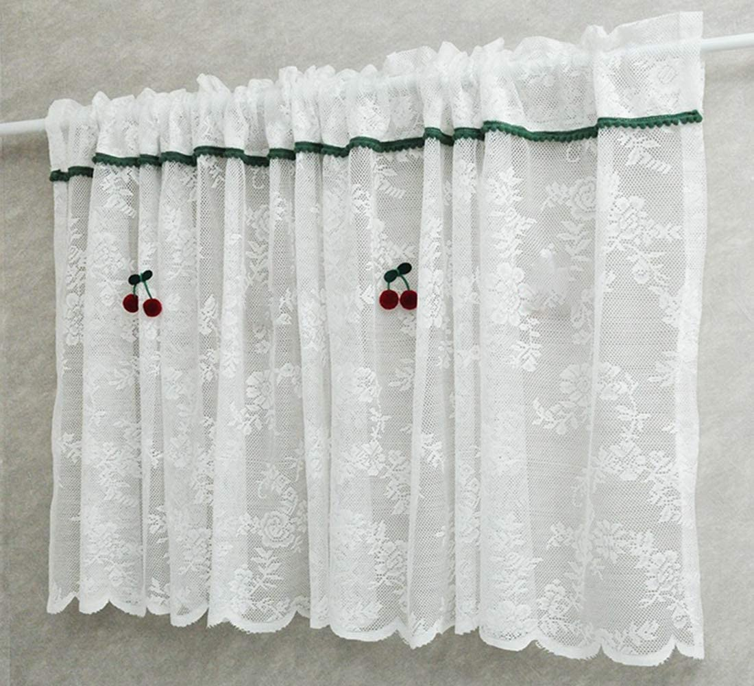 White Sheer Tier Curtains 24 inch Curtain Length Lace NEW before selling wi Valance San Jose Mall