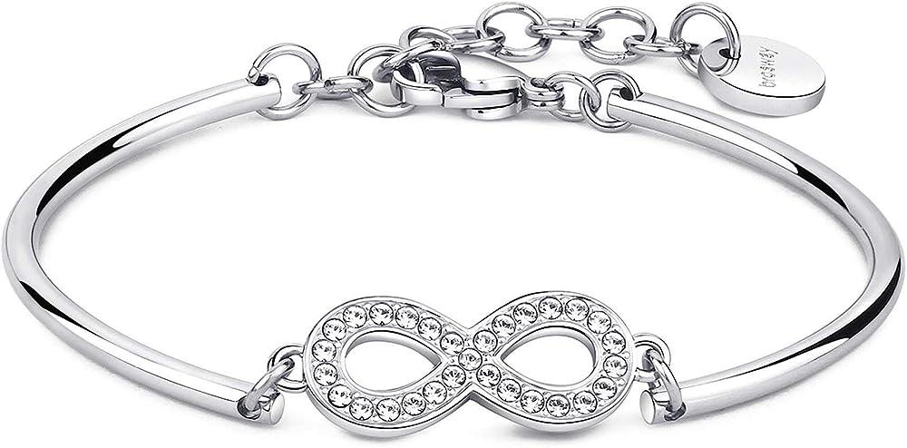 Brosway bracciale per donna  in acciaio e cristalli swarovski BHK68