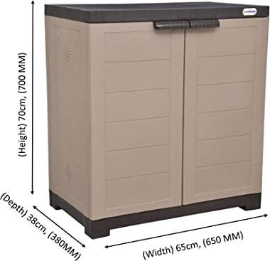 Delta 1 Plastic Cabinet for Shoe Storage | Space Organizer | Shoe Rack | for Living Room Home & Officeby Prima
