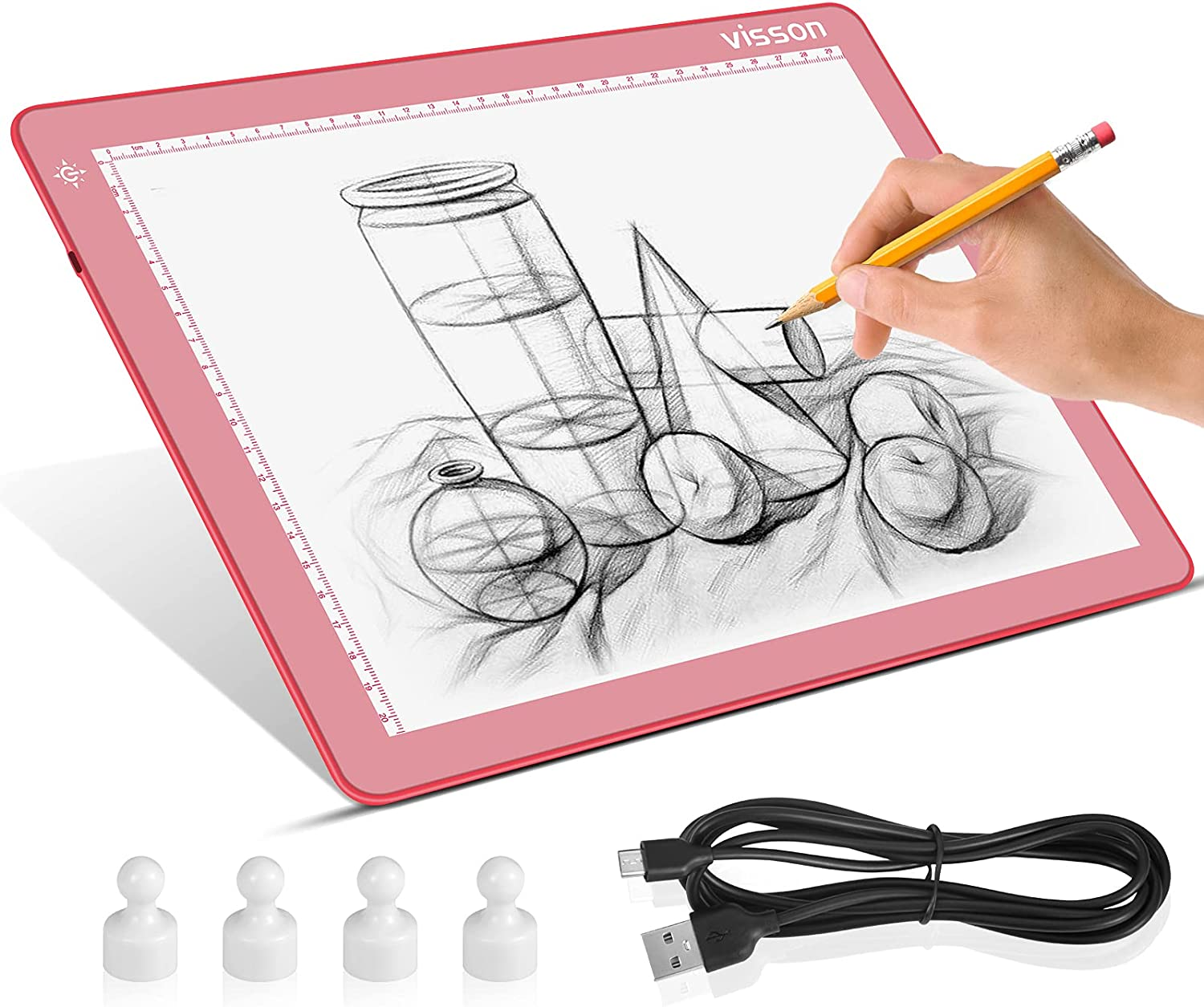 Portable A4 San Diego Mall Tracing LED Copy Branded goods Light Pr Board with pad