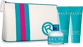 Ralph Lauren- Ralph 4 PC SET for women(3.4 Eau De Toilet Spr + 3.4 Shimmering Body lotion + 3.4 Bath & shower Gel + Cosmetic Bag)
