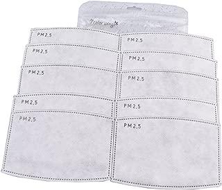 7 COLOR WINGS Adulto 5 Capas Filtro Inserto de Filtro de Carbón Activado PM2.5 N95 Inserto de Medios de Filtro de Protección (20)