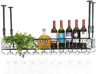 XHCP Organisation de Rangement de Cuisine Casiers à vin en Fer en métal Étagère de Rangement Gobelets en Verre à Champagne...