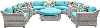 TK Classics FAIRMONT-08e-ARUBA 8 Piece Outdoor Wicker Patio Furniture Set, Aruba