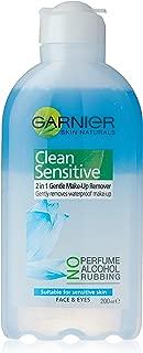 Garnier Clean Sensitive 2In1 Gentle Waterproof Make Up Remover 200ml