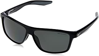 Nike Men's EV1073 001 Polarized Square Sunglasses, Black, 60 mm
