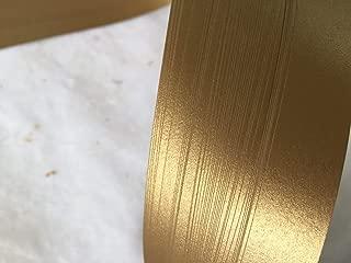 German Froebel Star Strip Weaving Papers, 50 Pack, Shimmer Antique Gold (1/2 inch)