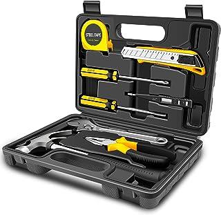 Dfito Home Tool Kit, High Quality Household Hand Tool Set with Hard Storage Tool Box