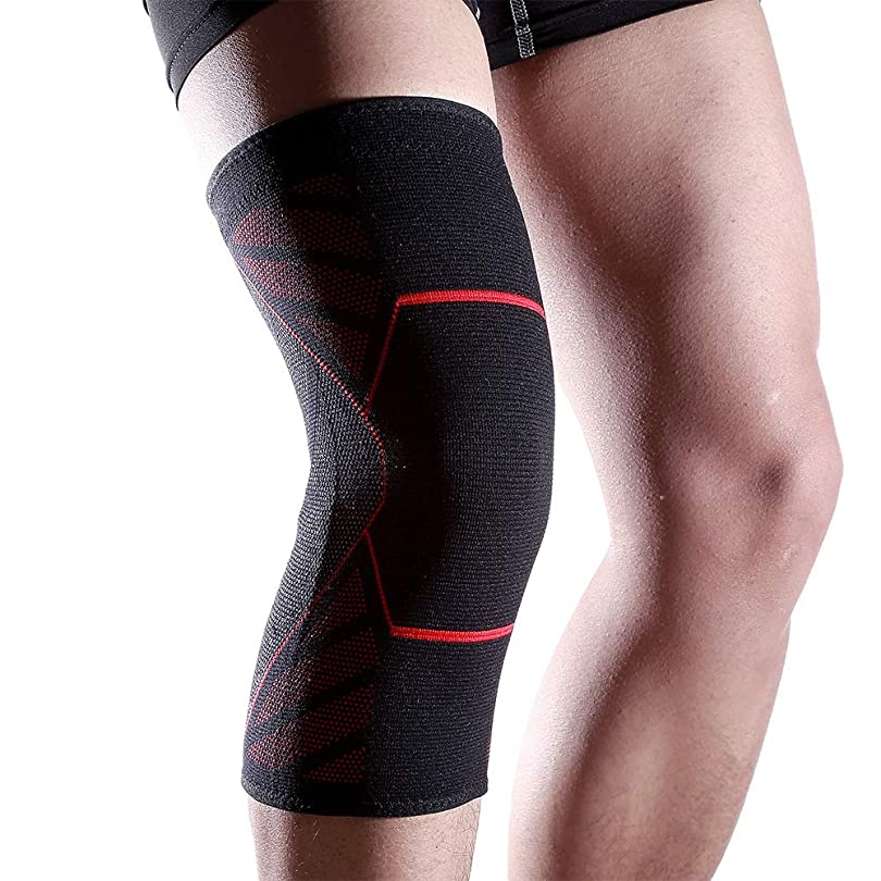 熱心なトランク手当膝サポーター 膝パッド 膝パッド 袖、けが防止 保護 通気性 ソフト 関節 靭帯 スポーツ 左右 ユニセックス ギフト