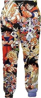 Ocsoc Men Dragon Ball Z Joggers Sweatpant 3D Anime Print Trousers Jogging Pants
