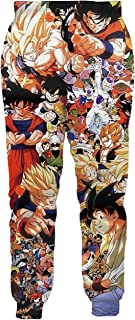 Ocsoc Women/Men Unisex Dragon Ball Z Joggers Sweatpants 3D Anime Print Track Baggy Trousers