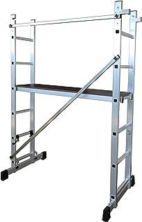 Escalera antideslizante para andamios multiusos de acero galvanizado 35 x 26,5 x 43,5 cm andamio andamio plataforma de acero galvanizado para pintura o pies andamio torre de trabajo