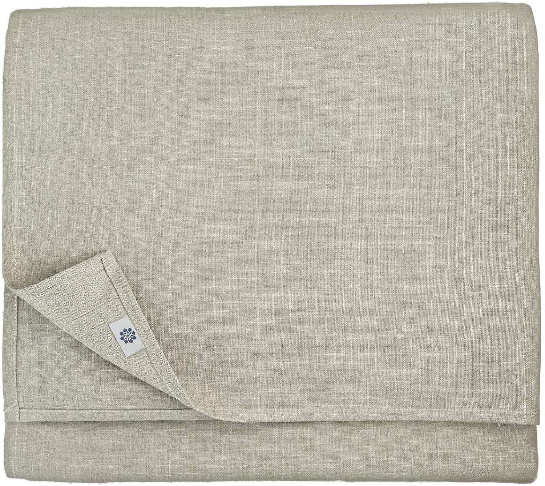 Linen & Cotton Luxus Tischdecke ANABELLA - 100% 100% 100% Leinen (147 x 250 cm), Natur Grau Beige B01DGYYMZU 6f3e2b