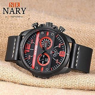 Yuanhua Male Watch, Quality Waterproof Sports Three Eyes Quartz Movement Watch Adjustable Wear-resistant PU Leather Watch Band