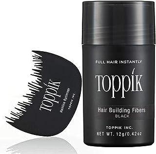 TOPPIK Hair Building Fibers - 12gm Black With Optimizer