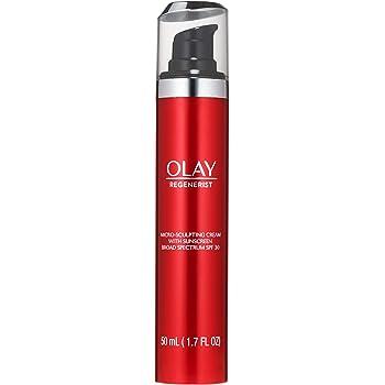 Olay Regenerist Micro-Sculpting Cream Face Moisturizer with Sunscreen SPF 30 Broad Spectrum 1.7 oz, Serum + SPF 30