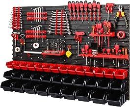 Gereedschapswand stapelboxen 1152 x 780 mm - opslagsysteem SET gereedschapshouders en 34 stuks box - wandrek werkplaatsrek...