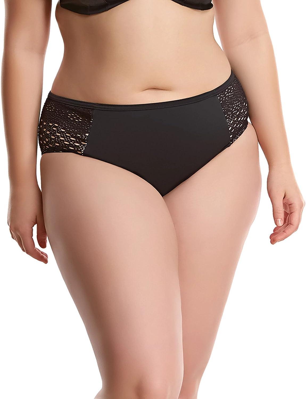 Elomi Women's Crochet Mid-Rise Bikini Bottoms