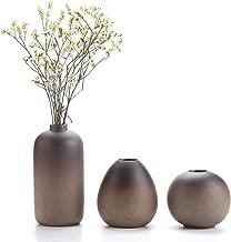 T4U Stile Antico Set di Vaso in Ceramica Decorazioni per la Casa Cerimonia Nuziale Vaso da Piante Idroponiche Vasi di Fiori Pacchetto di 3