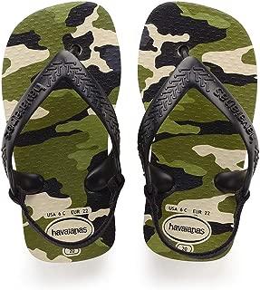 Havaianas Baby Chic II Beige/Black Rubber Baby Flip Flops Sandals