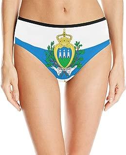 San Marino Flag Women's High Waist Briefs Underwear