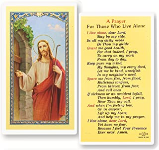 A Prayer for Those Who Live Alone Holy Card Blessed By His Holiness Pope Francis