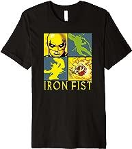 Marvel Iron Fist The Immortal Weapon Squared Premium T-Shirt
