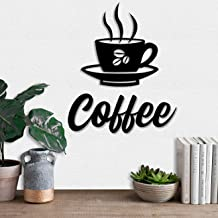Art Street Coffee Cup MDF Plaque Painted Cutout Ready to Hang Home Décor Wall Art